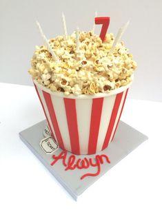 Cinema theme popcorn birthday cake - Cake by Henriettascakes