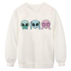 Shop Fashion alien digital printing sweatshirts online. SheIn offers Fashion alien digital printing sweatshirts & more to fit your fashionable needs.