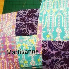 Patchwork make up bags in the making