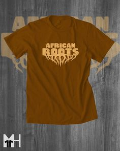 African Roots T-Shirt Afrocentric T-Shirt Mens by MindHarvest