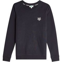 Kenzo Embroidered Motif Sweatshirt (605 SAR) ❤ liked on Polyvore featuring tops, hoodies, sweatshirts, black, embroidery top, embroidered sweatshirts, embroidered top, kenzo top and kenzo sweatshirts