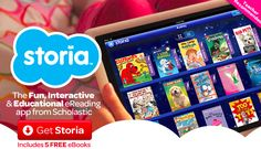 The scholastic storia app is great for reading. It provides another format for students to read books other than print text.