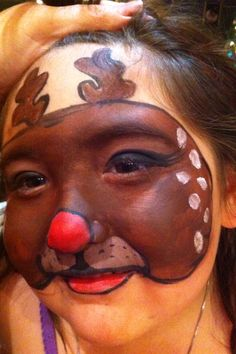 Christmas Rudolph face painting