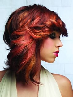 Gorgeous Dimentional Red Hair..Kind of want to try something like this with browns??
