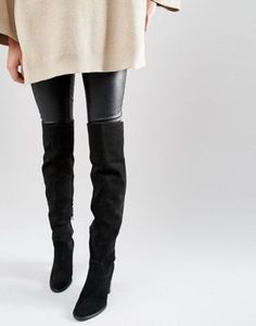 66e3333af642 ASOS KEIRA Suede Over The Knee Boots Mode Chic, Mode Tendance, Décontracté,  Cuissardes