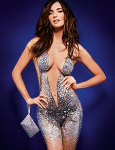 Spanish actress Paz Vega covered in Swarovski Crystals... sure helps to have a gorgeous body! Just sayin'. ;-)