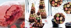 Macaron tower and mini topiary trees -  from Dollayau, Paris