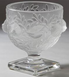 Lalique Crystal 'Elizabeth' Footed Bowl