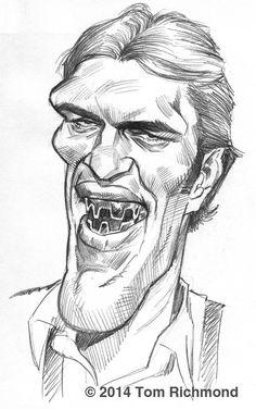 Bonus Sketch o'the Week- Richard Kiel!