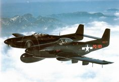 F82 Twin Mustang, the last piston engined fighter ordered by the US Air Force