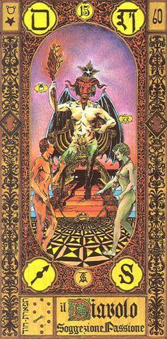 XV. The Devil - Tavaglione Tarot - The Stairs of Gold Tarot by Giorgio Tavaglione