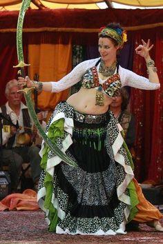 I like her 25 yard tribal belly dance shirt