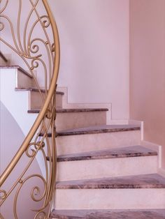 In place of wallpaper, today, many prefer decorative plaster. Decorative Plaster, Of Wallpaper, Stairways, Traditional, Contemporary, Interior, Home Decor, Stairs, Staircases