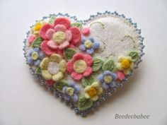 pastel heart pin