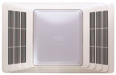Broan 696 Fan and Light with Acoustic Insulation, 100 CFM Sones, White Grille - Good quality and solid feeling.If you are looking for ventilation fans you c Bathroom Fan Light, White Bathroom, Small Bathroom, Bathroom Lighting, Bathroom Fans, Bathroom Ideas, Bathroom Inspiration, Bathroom Exhaust Fan, Amazing Bathrooms