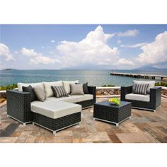 Merveilleux Niko 6 Piece Patio Deep Seating Modular Sectional By Sirio   Could This  Work For The Back? | Idea For House | Pinterest | Patios, Decking And  Sunbrella ...