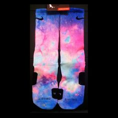 Cotton Candy Nike Custom Elites NEW by TheSickestSocks on Etsy, $35.99--- must get for next season! I still love my other elites tho zzz my faves are the blue and silver