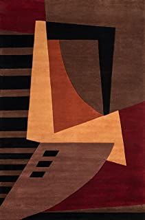 Amazon.com : Momeni Contemporary Rugs, Modern Rugs, Modern Art Movements, New Wave, American Modern, Wave Design, Hand Tufted Rugs, Wool Area Rugs, Wool Rugs