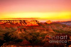 Sunset Yaki Point Grand Canyon by Bo and Nadine Johnston #sunset #Grand #Canyon