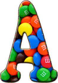 Alfabeto Decorativo: Alfabeto - Doce - PNG - Maiúsculas e Minúsculas - ...