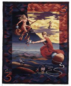 Sarah Swett - Three of Spinsters - my all-time favorite tapestry! It is beautiful and magical and makes my heart sing!