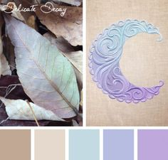 Whether it's seasons or color, transitions can be gorgeous, like in this Delicate Decay color inspiration for your embroidery designs.