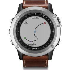 Garmin Fenix 3 Sapphire Multi-Sport GPS Watch | Silver/Leather