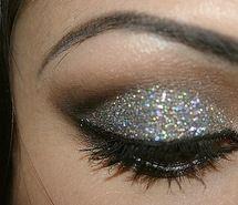 Inspiring picture cute, glitter, make up.
