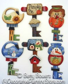 Autumn and Winter Chubby Key Ornaments Pattern
