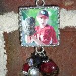It's almost time for BASEBALL!!  Love my baseball pendant!  Wear it to every game!