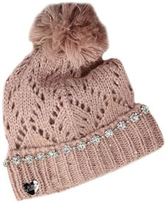 f6ae6912cadc7 Betsey Johnson Womens on the Rocks Cuff Hat Blush One Size   Click image  for more details.