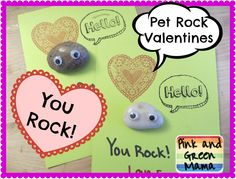 Pet Rock Valentines from Pink and Green Mama Blog