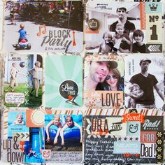 Project Life Week 24: Working With A Kit, Hand Stitching Photos and Making Collages   Oh My!