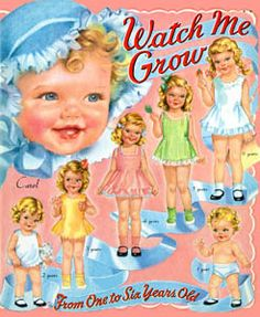 Image detail for -Watch Me Grow [Cute, Louise Rumley paper doll] : Paper Dolls from ...