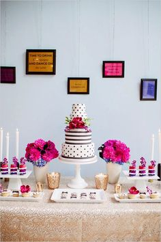Kate Spade wedding inspiration done perfectly Wedding Desserts, Wedding Cakes, Wedding Decorations, Kate Spade Party, Festa Party, Cake Table, Dessert Tables, Party Time, Birthday Parties