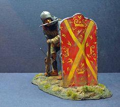 Burgundian crossbowman c 1470 Medieval, 28mm Miniatures, Military Figures, Miniature Figurines, 12th Century, Knights, Gaming, War, Toys