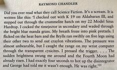 Raymond Chandler, Science Fiction, Writing, Sci Fi, Being A Writer
