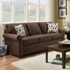 Delightful Simmons Apartment Sofa 1530A JoJo Chocolate | Hope Home Furnishings And  Flooring