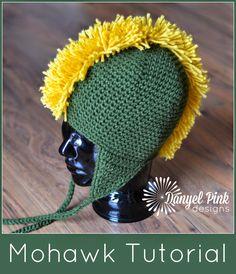 Danyel Pink Designs: Mohawk Hat Tutorial