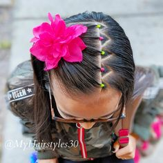 Toddler Hair Dos, Easy Toddler Hairstyles, Girls School Hairstyles, Cute Simple Hairstyles, Little Girl Hairstyles, African Hairstyles, Up Hairstyles, Braided Hairstyles, Girl Hair Dos
