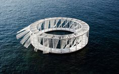 Antiroom II is a floating island on the sea of Malta, an unreachable surface from the ground, only accessible by swimming or by boat.