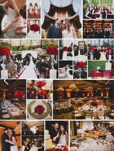 Beautiful Red Roses at a wedding Lisa Kahn Events coordinated at Four Seasons by Hidden Garden