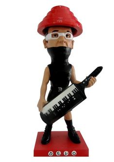 DEVO Throbblehead from AGGRONAUTIX  Q: Are we not an awesome toy that any adult new waver would appreciate? A: Yes, We are a Devo Throbblehead! Everybody wants a good thing, and we've got a gut feeling that this adorable little guy is just the Gift U Want.