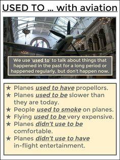 #tefl #tesol #grammar #learnenglish #elt AskPaulEnglish: USED TO ... with Aviation