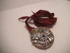 Christmas Time Pocket Watch Necklace