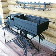 Fire Pit Bbq, Metal Fire Pit, Fire Pit Patio, Bq Grills, Homemade Grill, Grill Stand, Car Part Art, Firewood Storage, Metal Toys