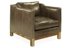Cara Leather Chair, Truffle Brown