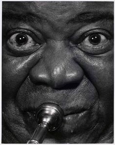 Louis Armstrong by Philippe Halsman, 1966