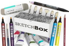 Subscription Boxes for DIY and Crafting Sketch Box, Best Subscription Boxes, Beauty Box, Artsy Fartsy, Art Supplies, Crafty, Creative, Diy, Gifts