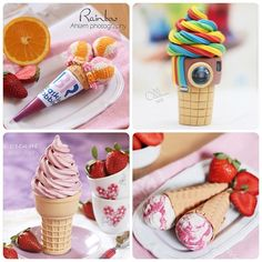 My ice creams  Ice cream-making of the most favorite works for me ❤❤❤ Made by me of clay   من أعمالي بالصلصال    هذا اكاونتي الثاني وفية شرح لطريقة تنفيذ بعض الأعمال   You can learn how i make many things with clay in my other account   @Ahlamnajdi  @Ahlamnajdi  @Ahlamnajdi  @Ahlamnajdi  @Ahlamnajdi  @Ahlamnajdi - @ahlamalnajdi- #webstagram